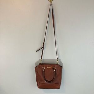 COACH Leather Satchel with Removable Strap